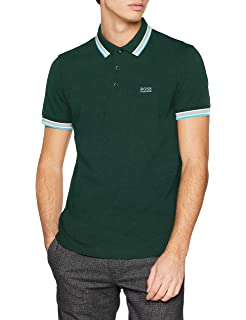 8be0d507c53 BOSS Men s Paddy Short Sleeve Polo Shirt  Hugo Boss Green  Amazon.co ...