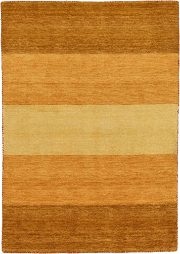Unique Loom Indo Gabbeh Collection Warm Colors Striped Light Brown Area Rug 4 7 x 6 4