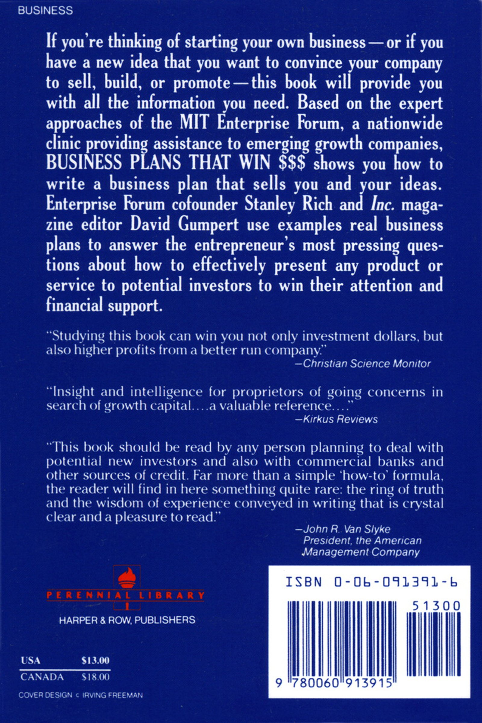how to write a winning business plan by stanley r. rich and david e. gumpert