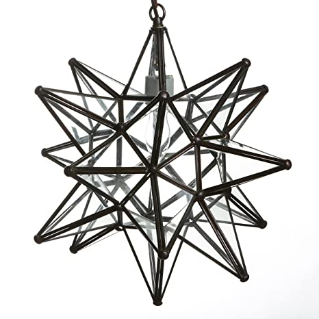 18 inch moravian star pendant lights clear glass amazon 18 inch moravian star pendant lights clear glass aloadofball Choice Image