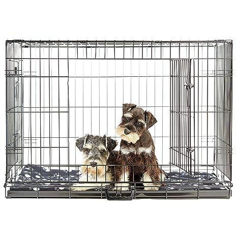 Andrew James - Jaula de perro grande con cama para mascota