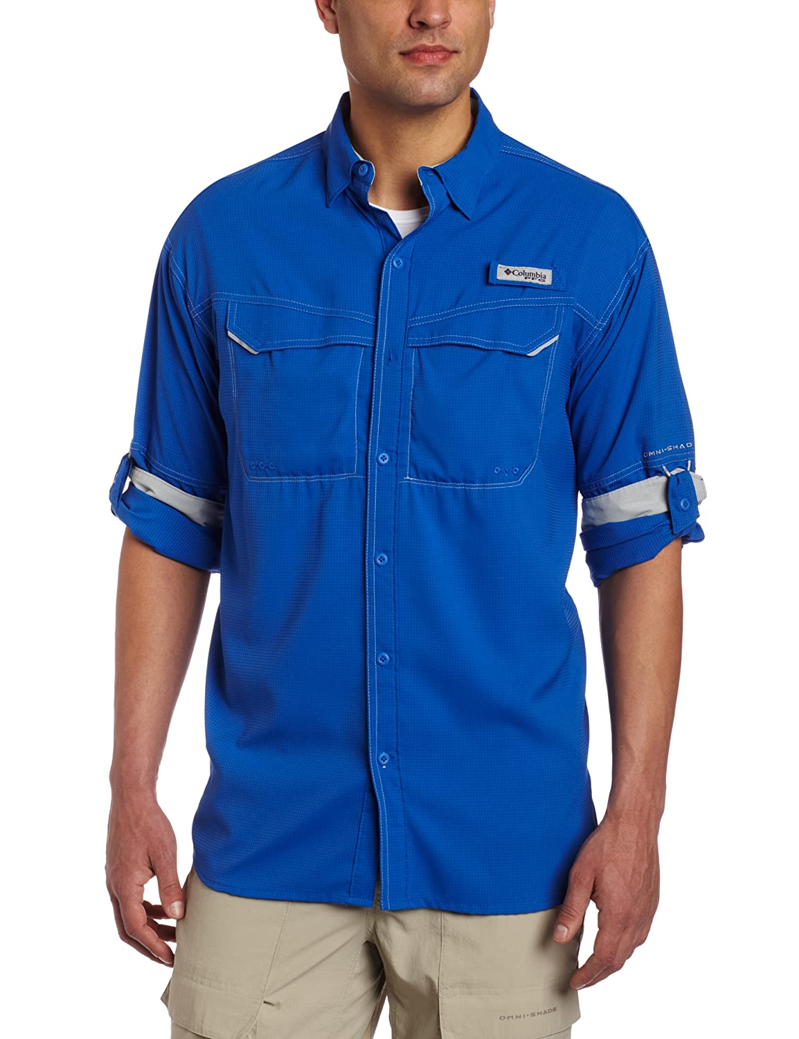 13616a6a48f Buy Columbia Men's Low Drag Offshore Long Sleeve Shirt, XX-Large, Vivid  Blue Online at Low Prices in India - Amazon.in