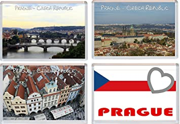 Kühlschrank Querformat : Prag u2013 tschechische republik u2013 4 pack u2013 jumbo kühlschrank magnet