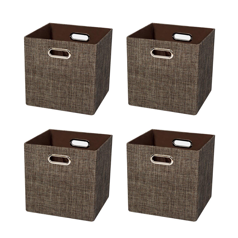 Posprica Panier cube de rangement pliable, bacs, tissu Diviser conteneurs  Boîtes de rangement pour 4ff93f69b530