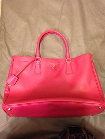 6a1f4da9cca8 Amazon.com   Prada Pink Saffiano Lux Leather Tote Bag Bn1844 Size Tu    Cosmetic Tote Bags   Beauty