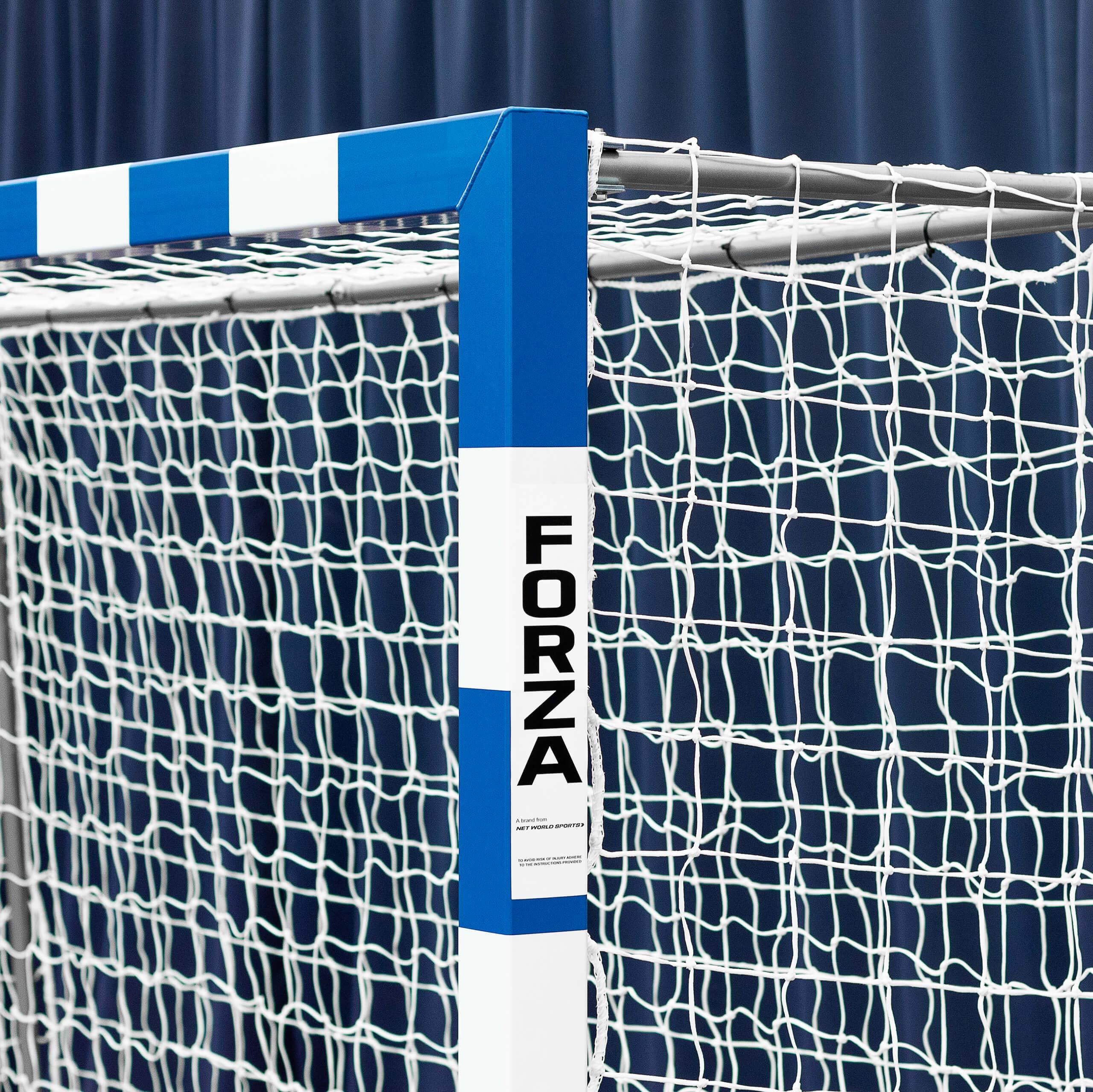 Forza Alu80 Competition Handball Goals   IHF Regulation Size 3m x 2m Handball Goal [Net World Sports] (Pair, Blue) by Forza (Image #4)
