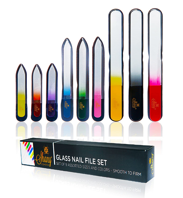 Amazon.com : SHANY Cosmetics Fine Crystal Glass Nail File Buffer 9 ...