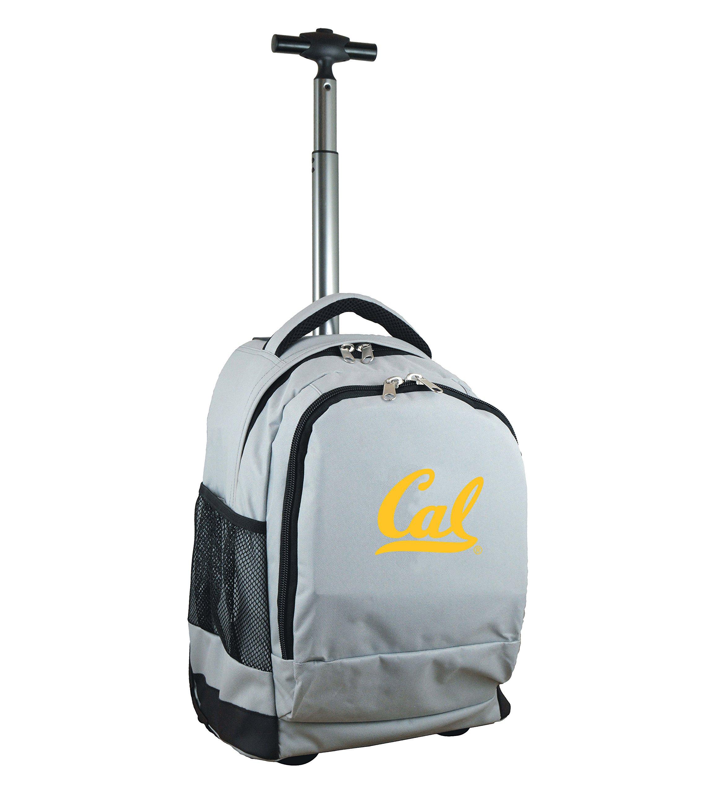 Denco NCAA California Golden Bears Expedition Wheeled Backpack, 19-inches, Grey