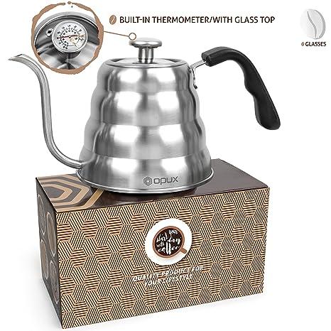 Amazon.com: OPUX - Hervidor de café con termómetro de cuello ...