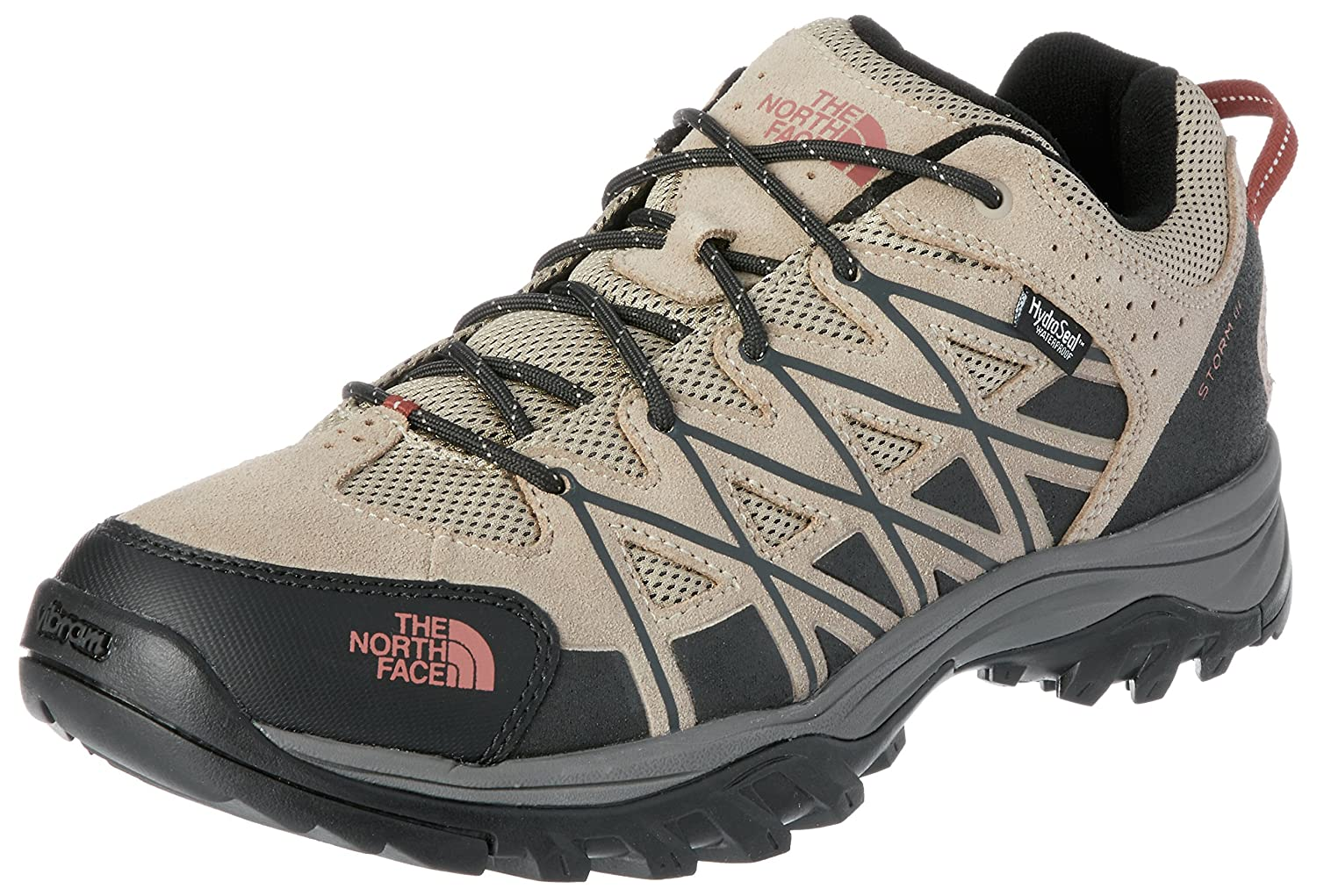 The North Face Men's Storm III WP Hiking Shoes Graphite Grey & Biking Red Hiker 32ZE
