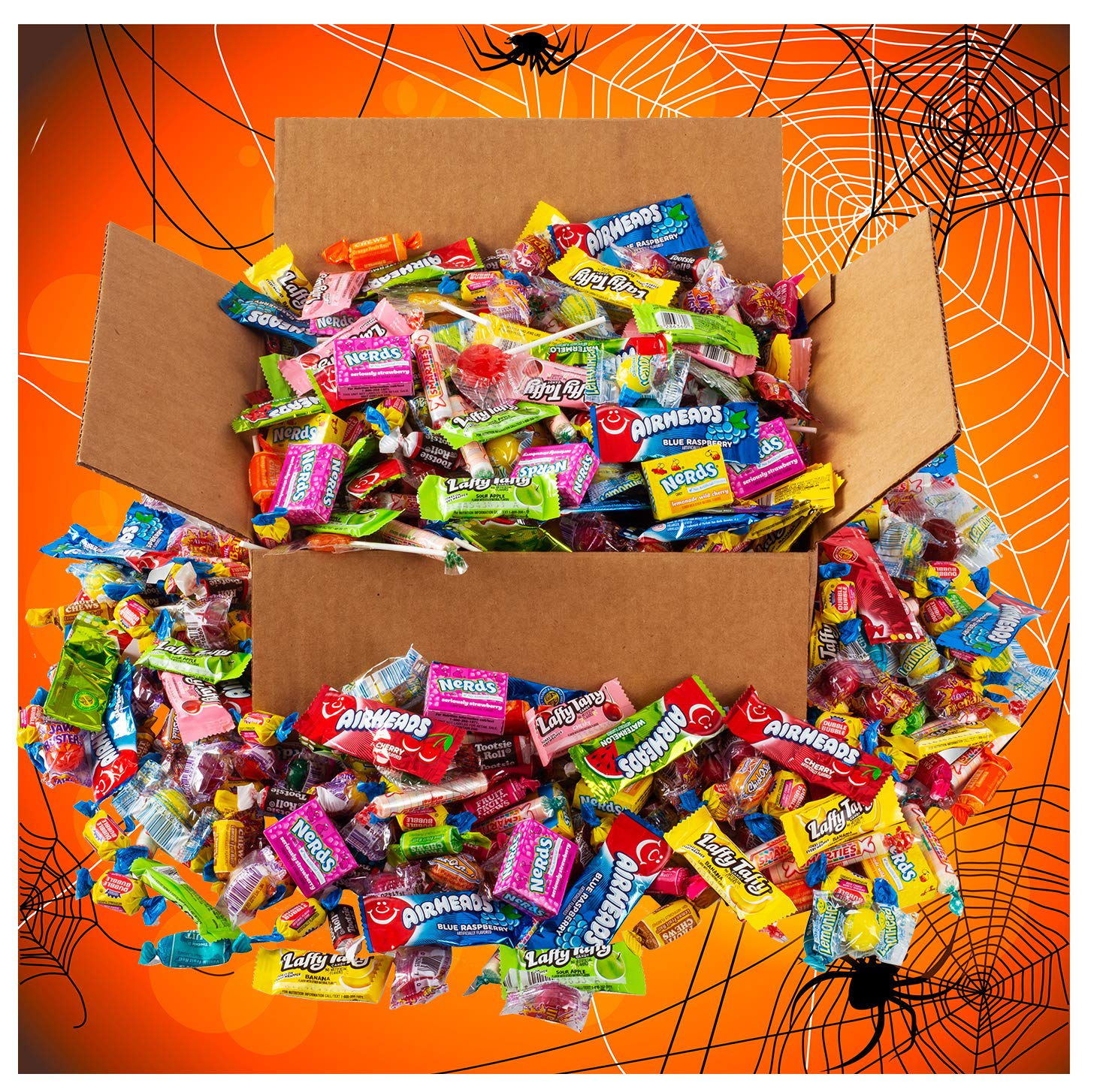 HUGE Halloween Candy Assortment Party Mix - 6.5 Pounds - OVER 350 Pieces of Individually Wrapped Candy - Trick or Treat Candy by A Great Surprise