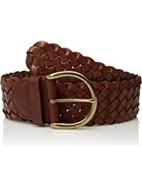 Circa Leathergoods womens Wide Braided Leather Belt Belt