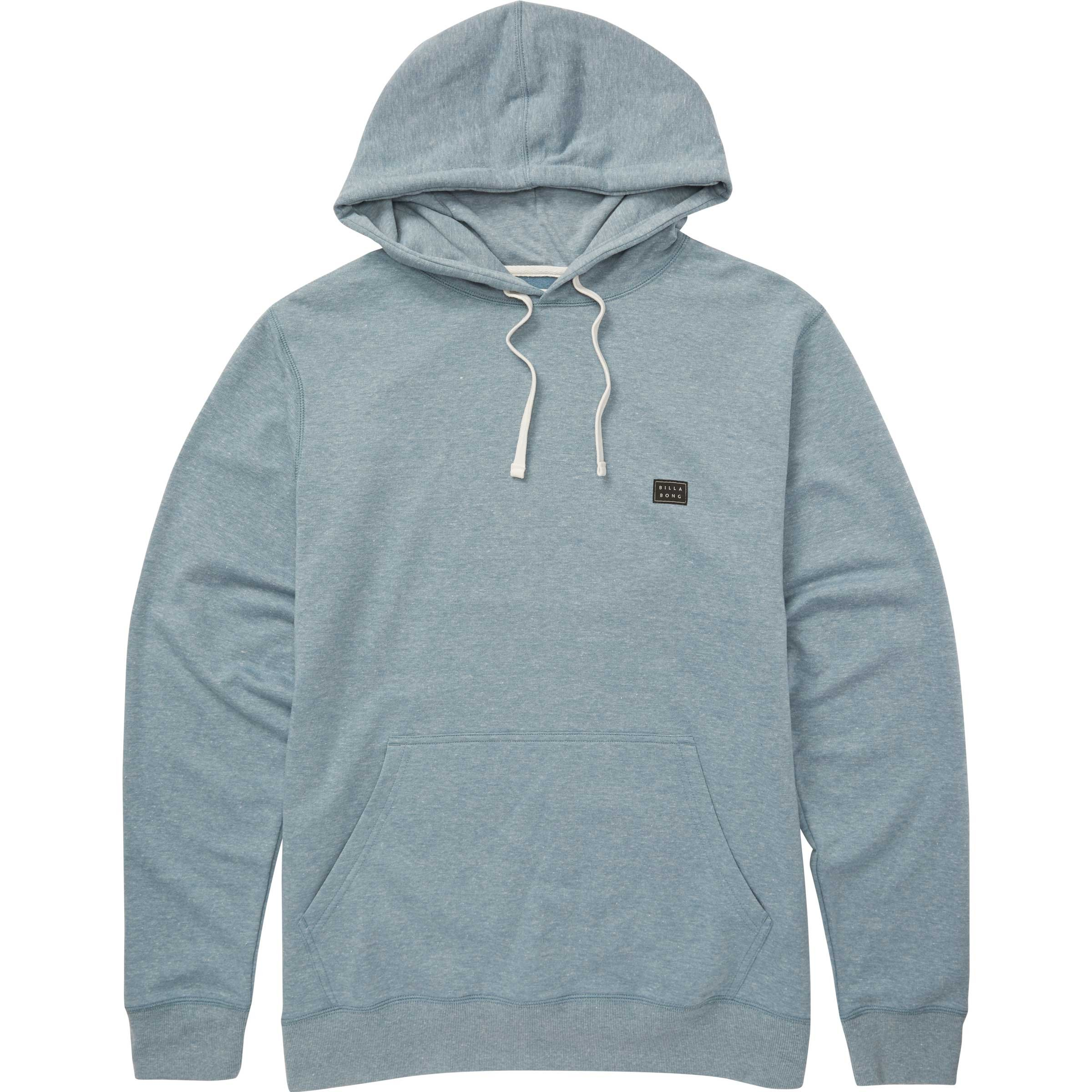 Billabong Men's All Day Pullover Hoody, Washed Blue, XL