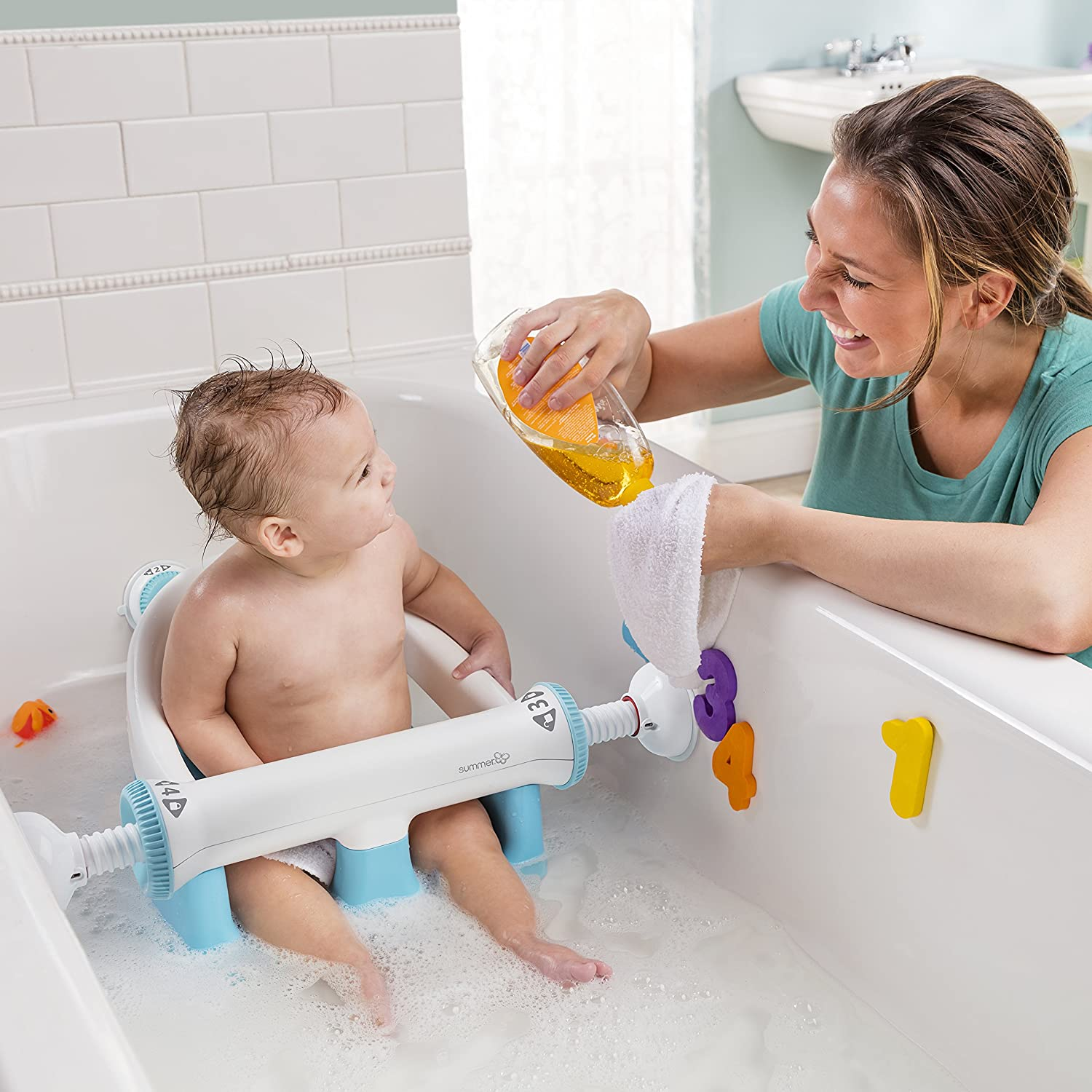 Amazon.com : Summer Infant My Bath Seat, Baby Bathtub Seat for Sit ...