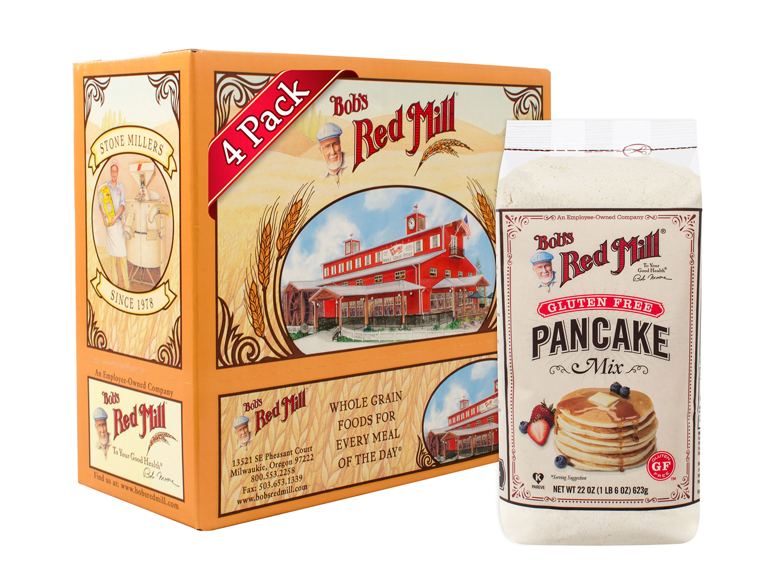 Bob's Red Mill Gluten Free Pancake Mix, 22-ounce (Pack of 4) by Bob's Red Mill (Image #1)
