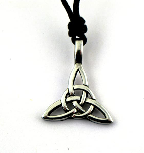 Amazon Amethyst Pewter Style Celtic Legend Trinity Knot And