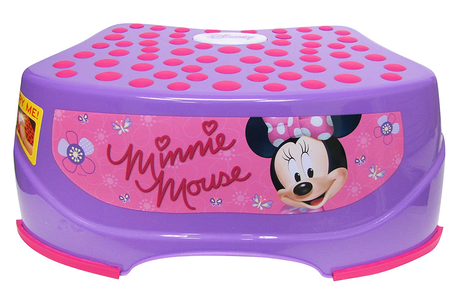Disney Minnie Mouse Step 'N Glow Step Stool, Purple Ginsey Home Solutions 56750
