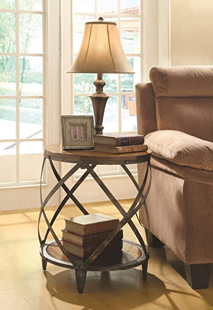 Amazon Coaster Home Furnishings Casual Accent Table Oak and