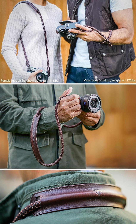 FREE Pad Premium Quality SupaDupa Leather Braided Camera Strap Men Women Neck Shoulder Sling Wrist For Sony Leica Fujifilm Canon Olympus Panasonic Nikon Pentax Binoculars Mirrorless