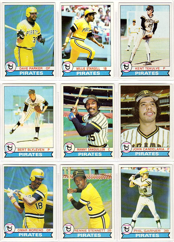 B00EKQQXJW Pittsburgh Pirates 1979 Topps Baseball Team Set (World Series Champions) (27 Cards) (Willie Stargell) (Dave Parker) (Kent Tekulve) (Bert Blyleven) (Manny Sanguillen) (John Candelaria) (Rennie Stennett) (Phil Garner) 91inr-EosrL