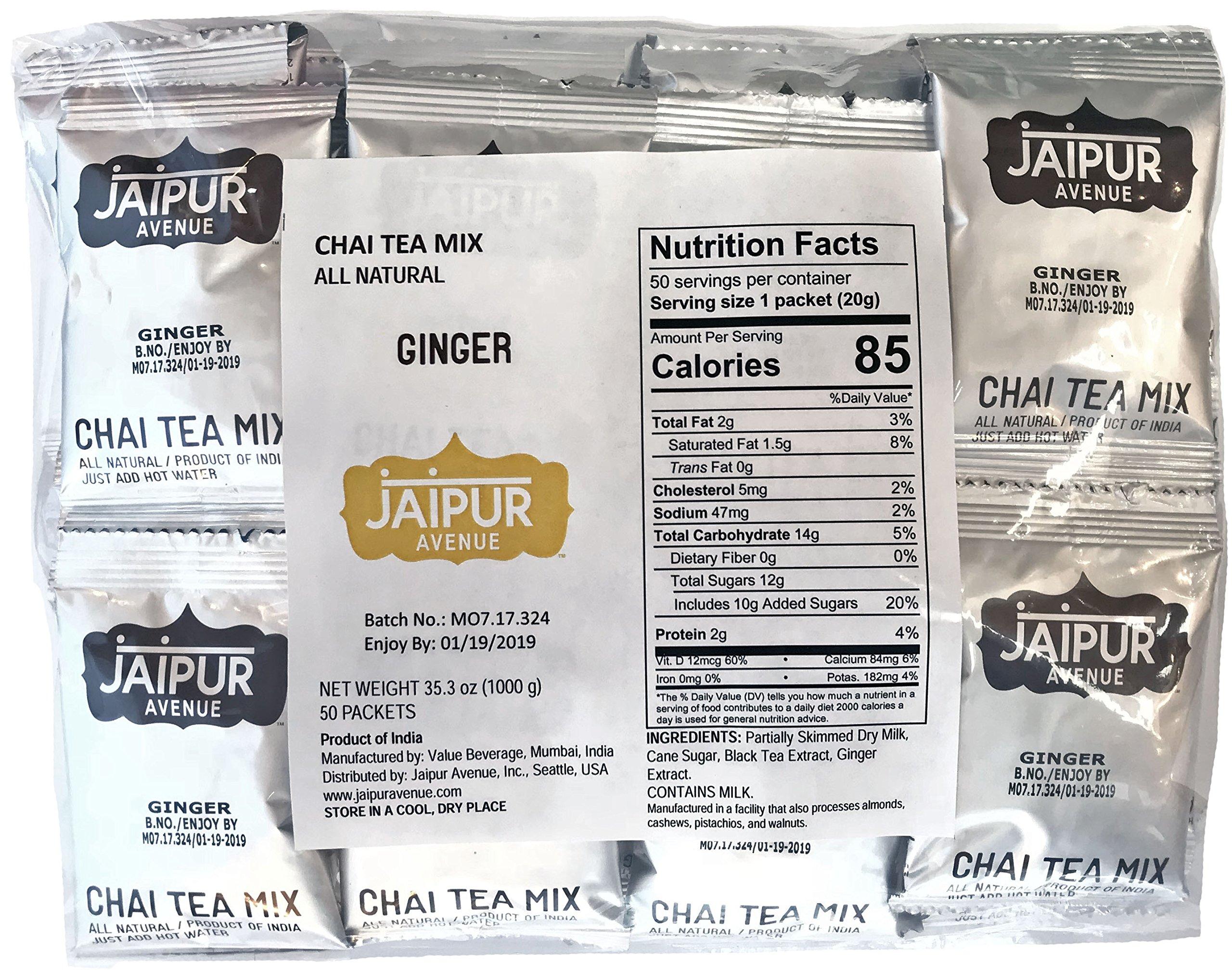 Jaipur Avenue Chai Tea Mix Ginger (50-Count Bag)