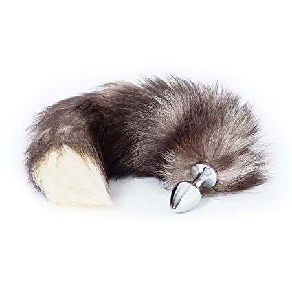 Unique Pleasure Fuchsschwanz/Foxtail Analplug aus Kunstfell - Durchmesser 34mm - Hochwertiger Edelstahl Buttplug - Einzigarti