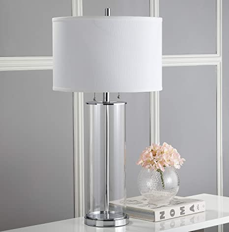 Amazon Com Safavieh Lighting Collection Velma Clear 31 Inch Table Lamp Set Of 2 Home Kitchen