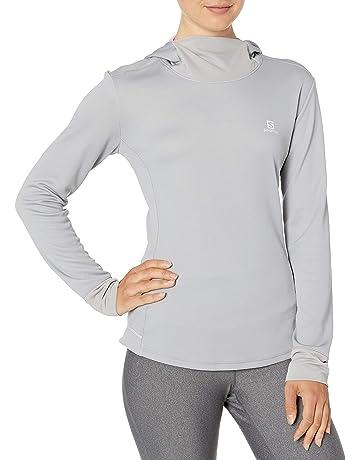 adidas Q4 Hoodie Sudadera para Mujer, Color NaranjaNegro