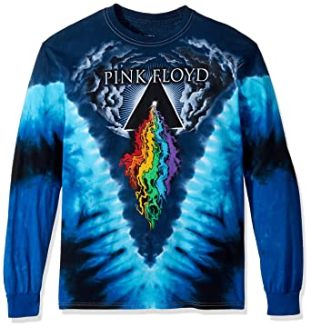 70c81364026 Amazon.com  Liquid Blue Men s Pink Floyd Prism River Long Sleeve T ...