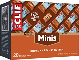 product image for CLIF BAR Mini Energy Bars Crunchy, Peanut Butter, 20 Count