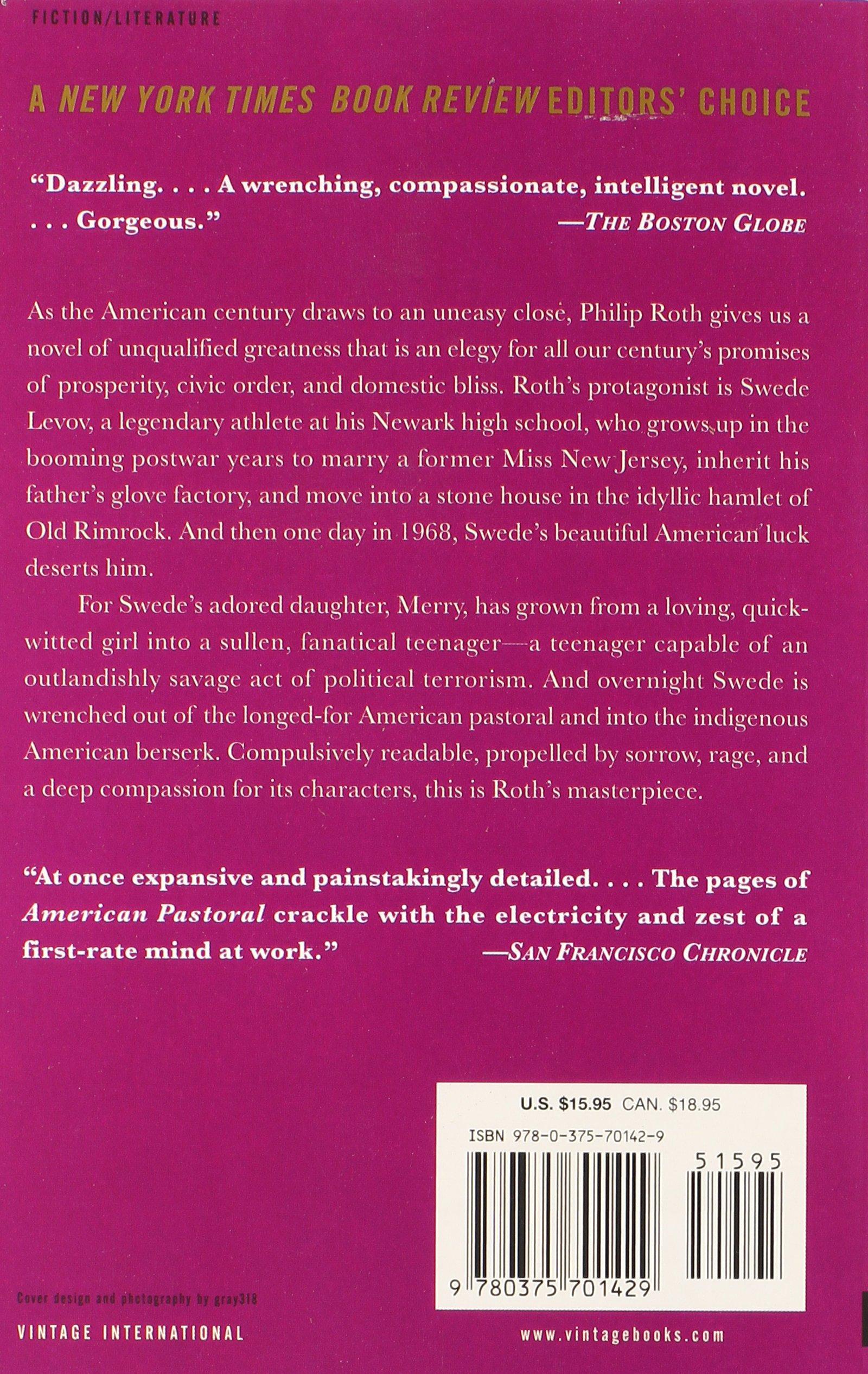 American Pastoral: American Trilogy (1): Philip Roth: 9780375701429: Books   Amazon