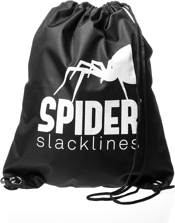2X Ratsche mit Spacers L/änge 25m oder 35m oder 50m Fly line Longline Slackline Set SPIDER SLACKLINE