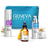 All-In-One Skin Care Kit: Natural Swiss Anti-Aging Products Vitamin C Serum (1.0 oz), Face Moisturizer with SPF 20 (1.0 oz) & Retinol Night Cream (1.0 oz) for Men and Women