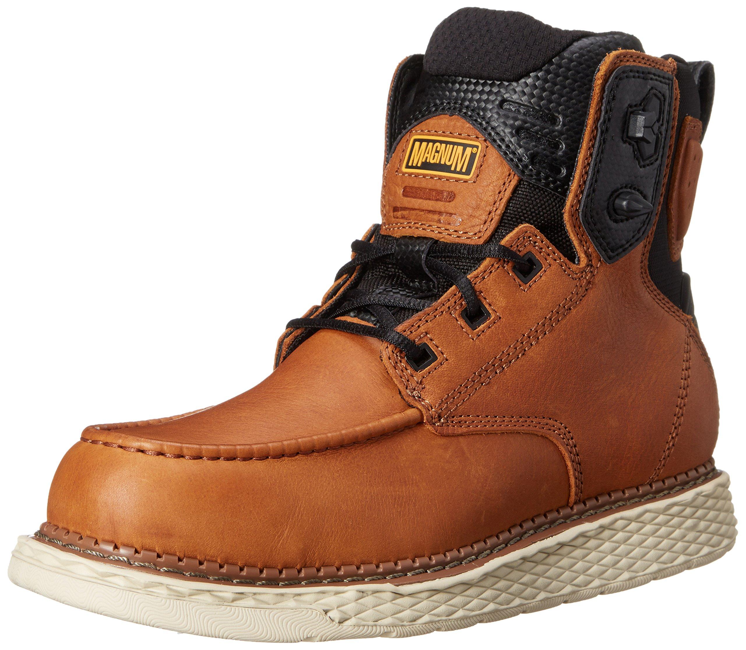 Magnum Men's Stockton 6.0 Workboot Work Shoe, Tan, 12 M US
