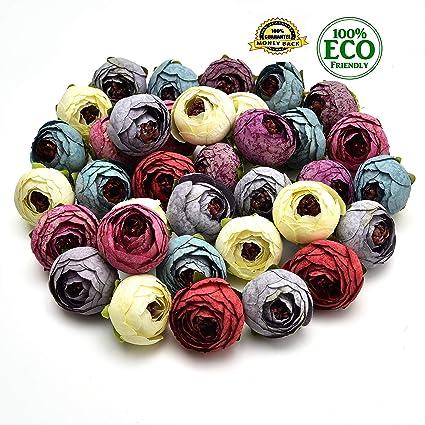 Amazon Silk Flowers In Bulk Wholesale Fake Flowers Heads