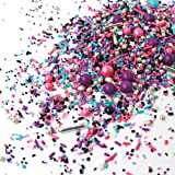 Milky Way| Space Galaxy Pink Purple Black Silver New Year's Colorful Candy Sprinkles Mix for Baking Edible Cake Decorations C