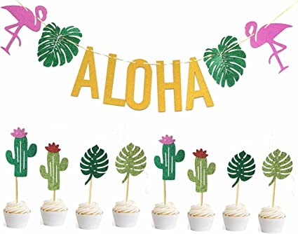 Aloha Hawaii Flamingo Celebration Table Confetti 34g  Party Birthday Cards