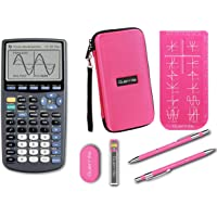 Texas Instruments TI-83 Plus Graphing Calculator + Guerrilla Zipper Case + Essential Graphing Calculator Accessory Kit (Pink)