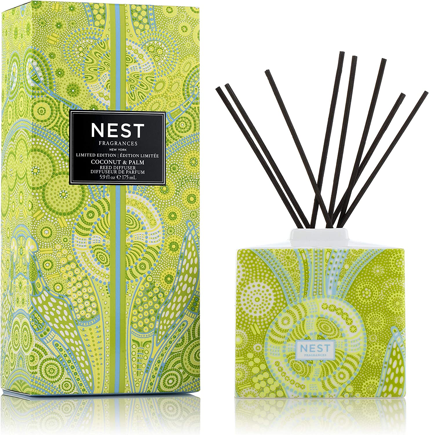NEST Fragrances Coconut & Palm Limited Edition Summer 'Scape Reed Diffuser