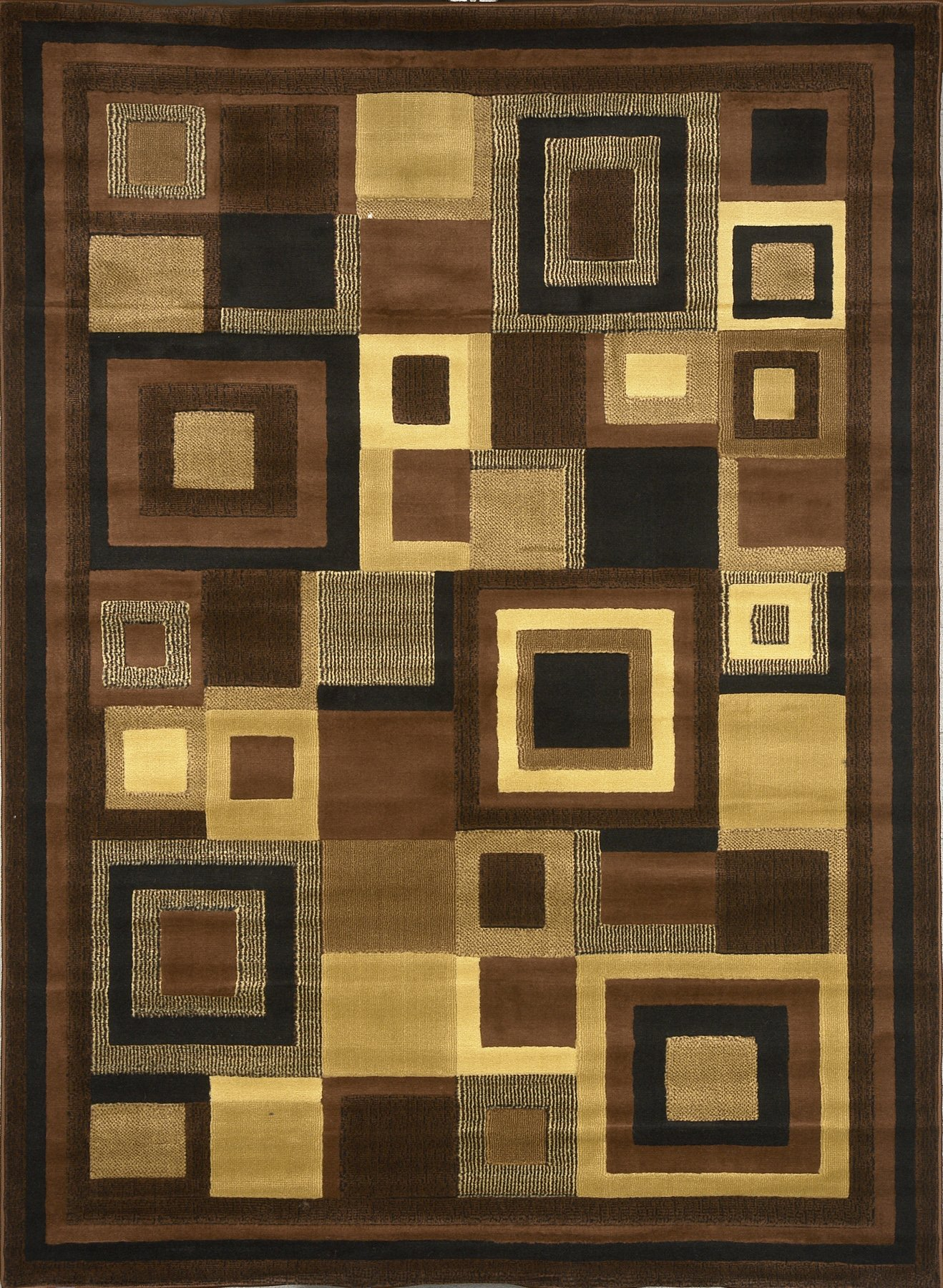 Home Dynamix Catalina 4467-469 Black/Brown 7-Feet 10-Inch by 10-Feet 5-Inch Contemporary Area Rug