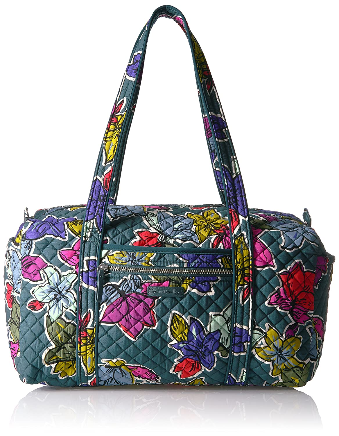 Vera Bradley Iconic Small Duffel, Signature Cotton Falling Flowers 23162
