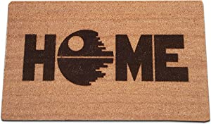 "Star Wars Death Star Home Laser Engraved Coir Fiber Doormat 30"" x 18"""