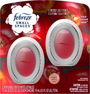 Febreze Small Spaces, Fresh Pressed Apple - 2 Count