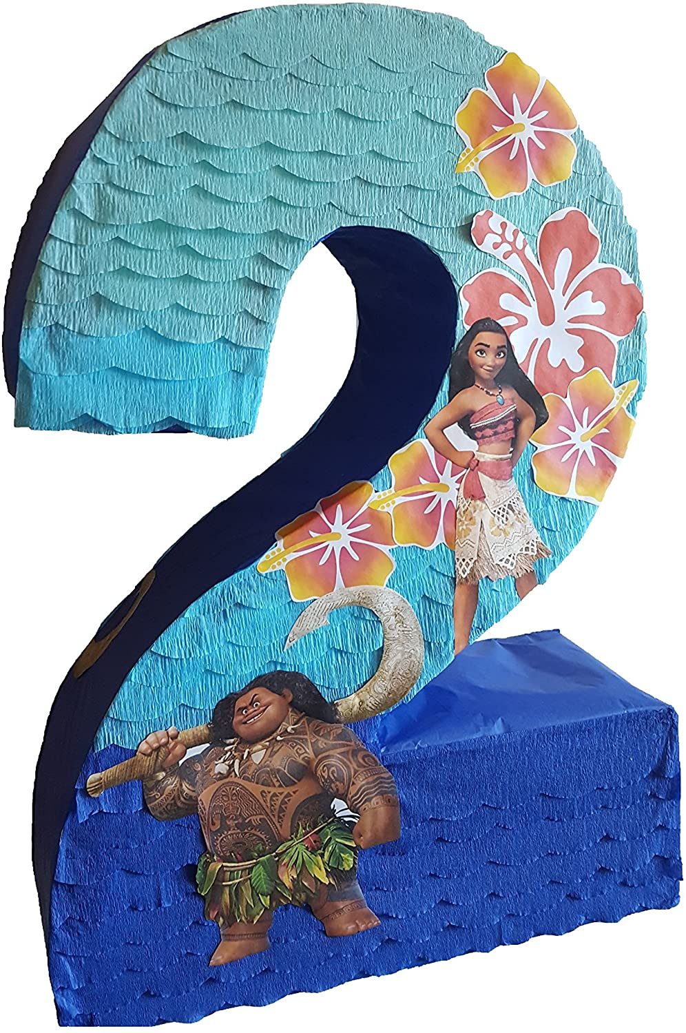 Number pinata inspired by Moana