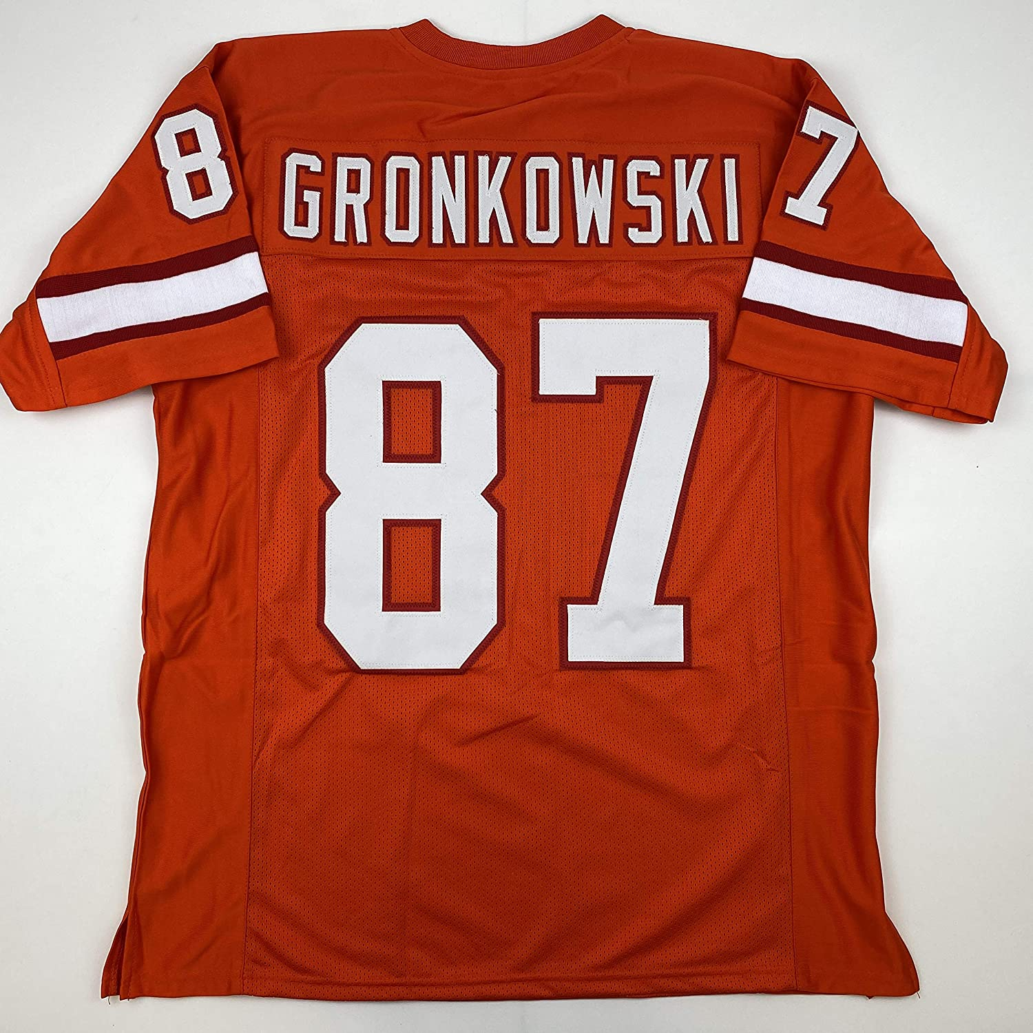 Amazon Com Unsigned Rob Gronkowski Tampa Bay Orange Retro 2020 Custom Stitched Football Jersey Size Men S Xl New No Brands Logos Sports Collectibles