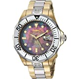 Invicta Men's Pro Diver 47mm Steel and Gold Tone Stainless Steel Automatic Watch, Two Tone (Model: 16034)