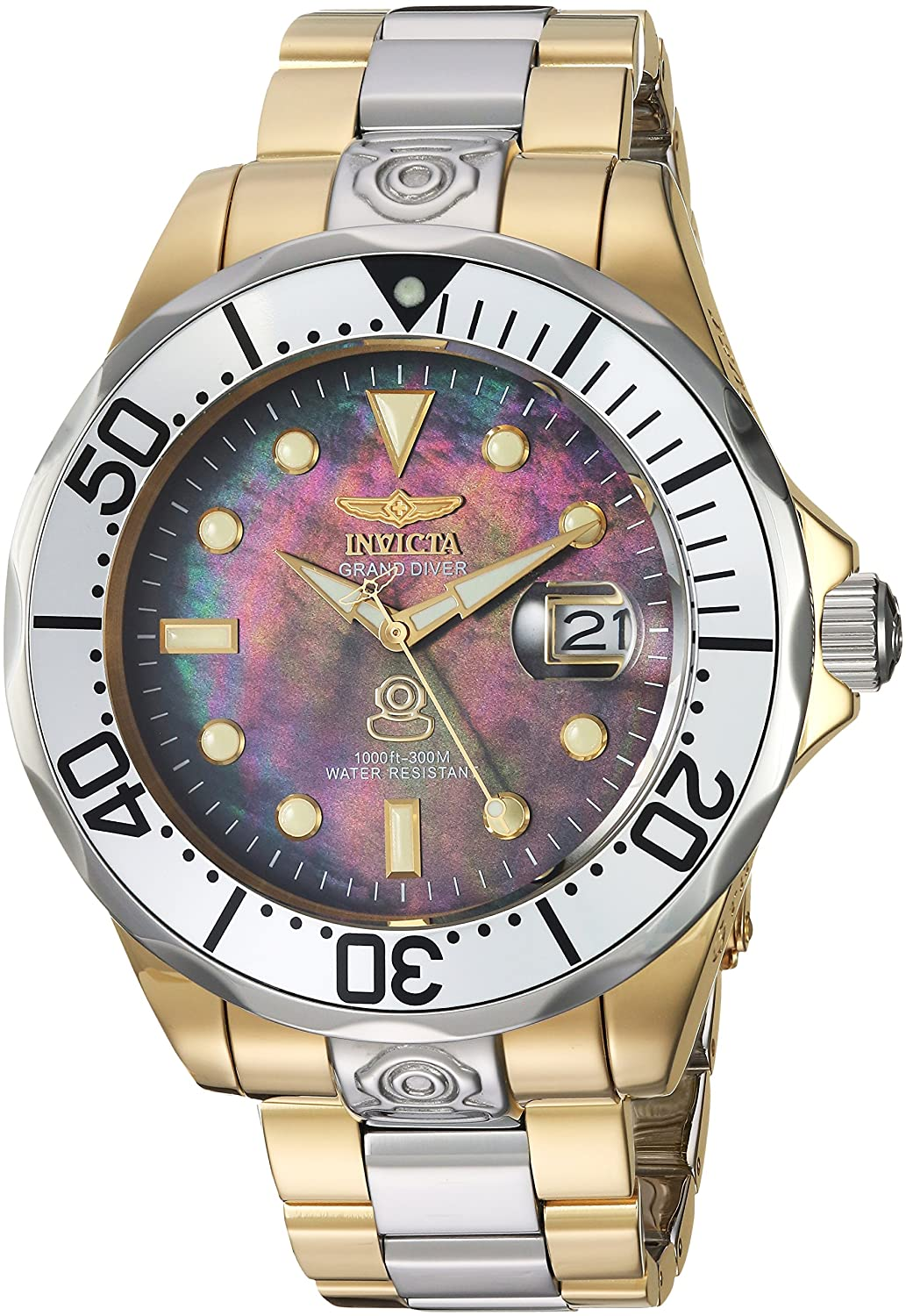 6c7c743f5 Amazon.com: Invicta Men's Pro Diver Automatic-self-Wind Diving Watch with  Stainless-Steel Strap, Two Tone, 22 (Model: 16034): Invicta: Watches