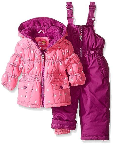 56f0bb82cef4 Pink Platinum Girls  Infant Foil Star Printed Snowsuit