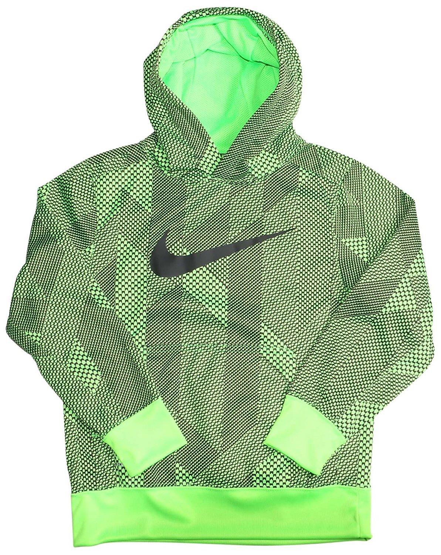 Nike Boy's 7-18 KO 3.0 Allover Print Pullover Boys' Training Hoodie (s) Green