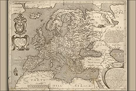 Amazon 24x36 poster 1600 map of europe england germany 24x36 poster 1600 map of europe england germany france reproduction gumiabroncs Choice Image